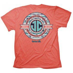 """J.C. Monogram"" 2X Cherished Girl Christian Tshirt"